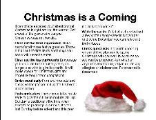 Christmas is a coming