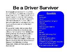 Be a Driver Survivor